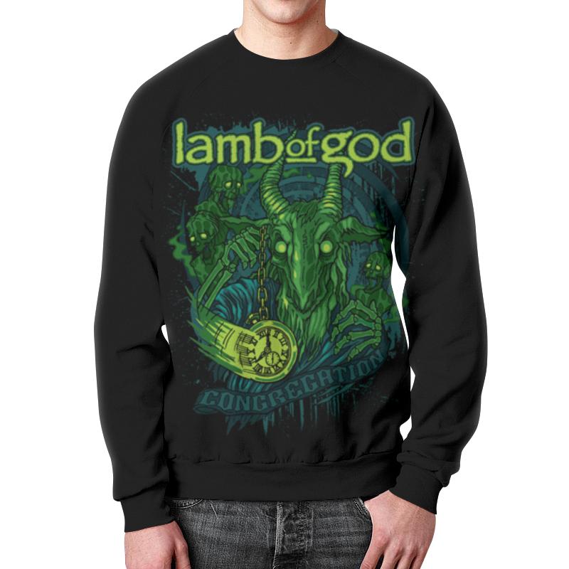 Свитшот мужской с полной запечаткой Printio Lamb of god свитшот print bar god likes