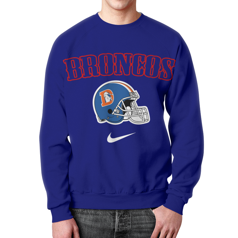 Свитшот мужской с полной запечаткой Printio Broncos футболка print bar denver broncos денвер бронкос