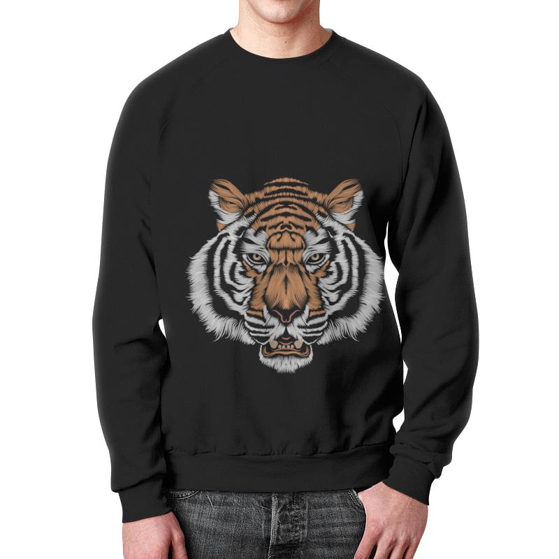 Свитшот мужской с полной запечаткой Printio Взгляд тигра