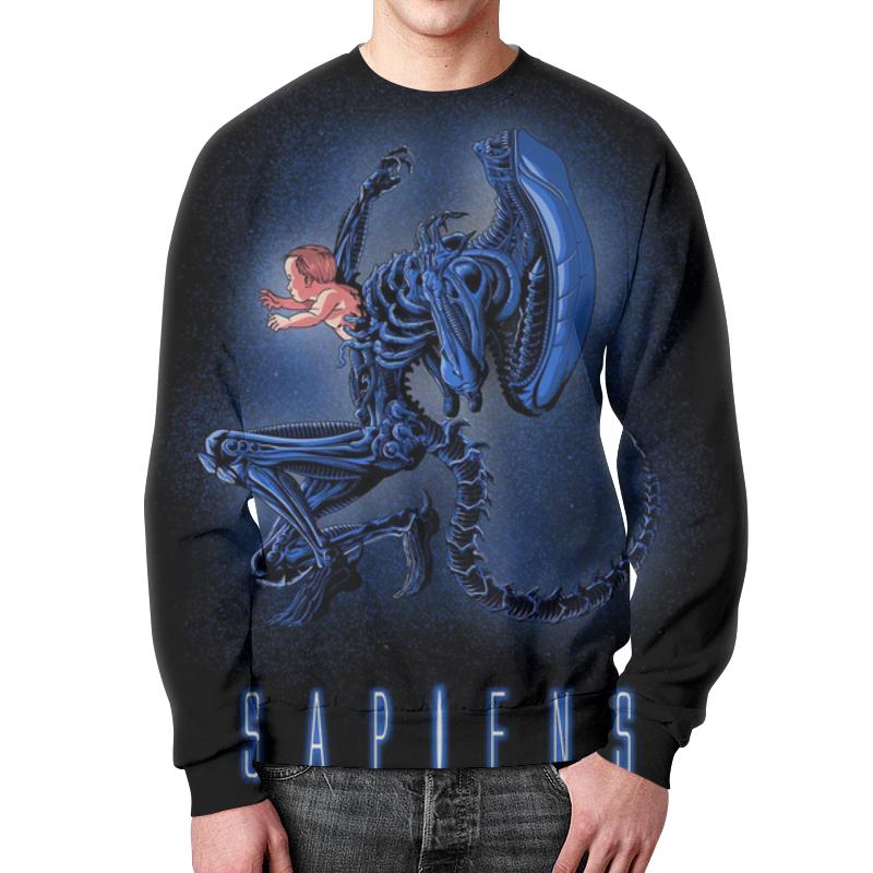Свитшот унисекс с полной запечаткой Printio Aliens - sapiens толстовка с полной запечаткой printio aliens sapiens