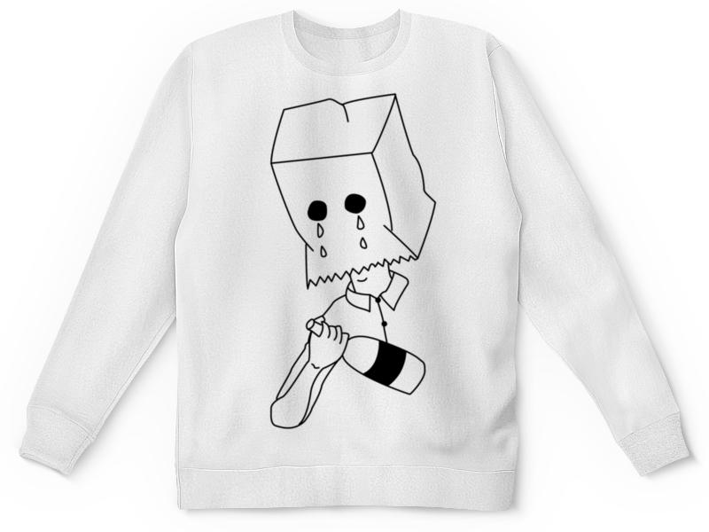 Свитшот унисекс с полной запечаткой Printio Cold kult - sadboys (white) white see through crochet lace cold shoulder long sleeves dresses