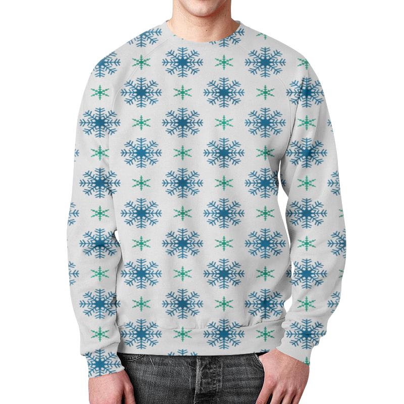Свитшот мужской с полной запечаткой Printio Падающие снежинки футболка с полной запечаткой мужская printio падающие снежинки