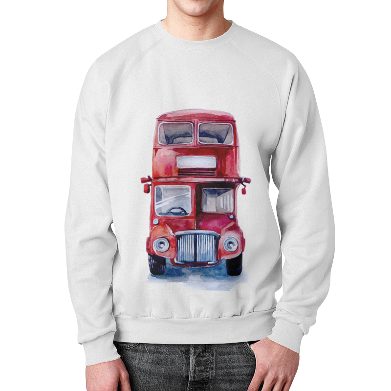 Свитшот унисекс с полной запечаткой Printio London bus welly london bus 99930