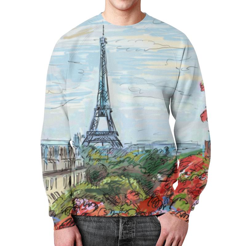 Свитшот унисекс с полной запечаткой Printio Эйфелева башня макет эйфелевой башни спб