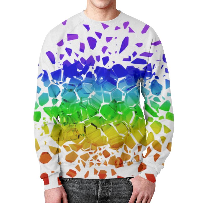 Свитшот мужской с полной запечаткой Printio Broken rainbow футболка с полной запечаткой женская printio broken rainbow