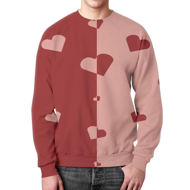 Фото - Свитшот мужской с полной запечаткой Printio Сердечки свитшот унисекс с полной запечаткой printio алфавит