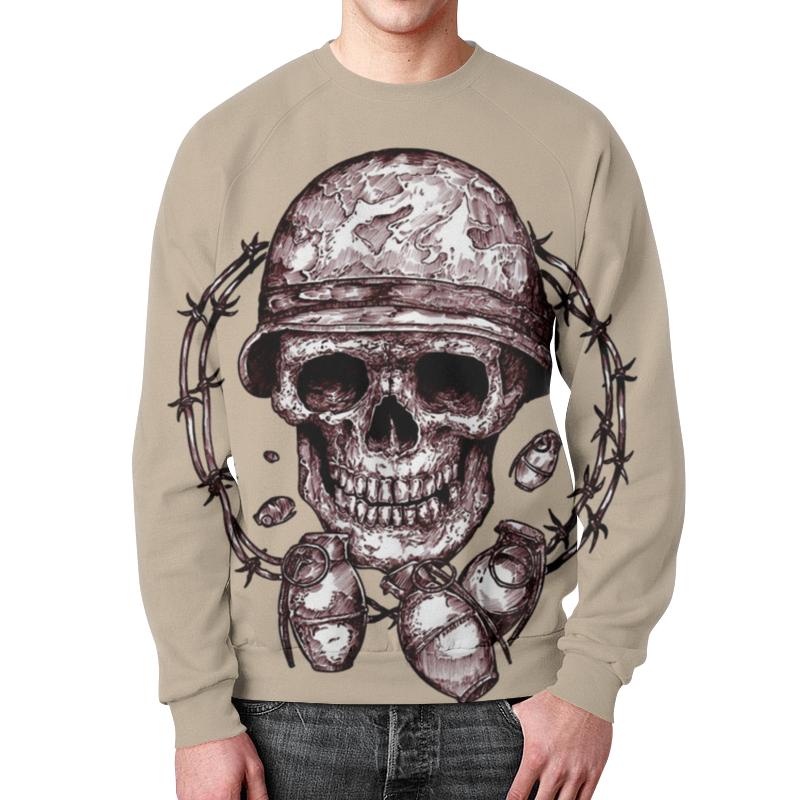Свитшот унисекс с полной запечаткой Printio Skull art свитшот print bar skull illumitans