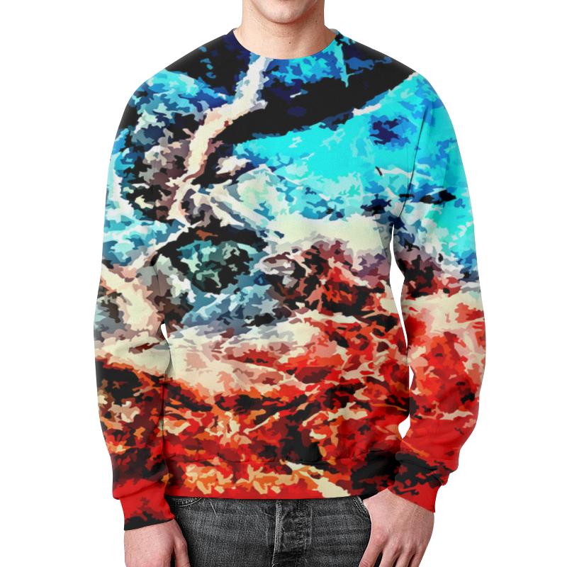Свитшот мужской с полной запечаткой Printio Лед и пламя рубашка поло с полной запечаткой printio лед и пламя