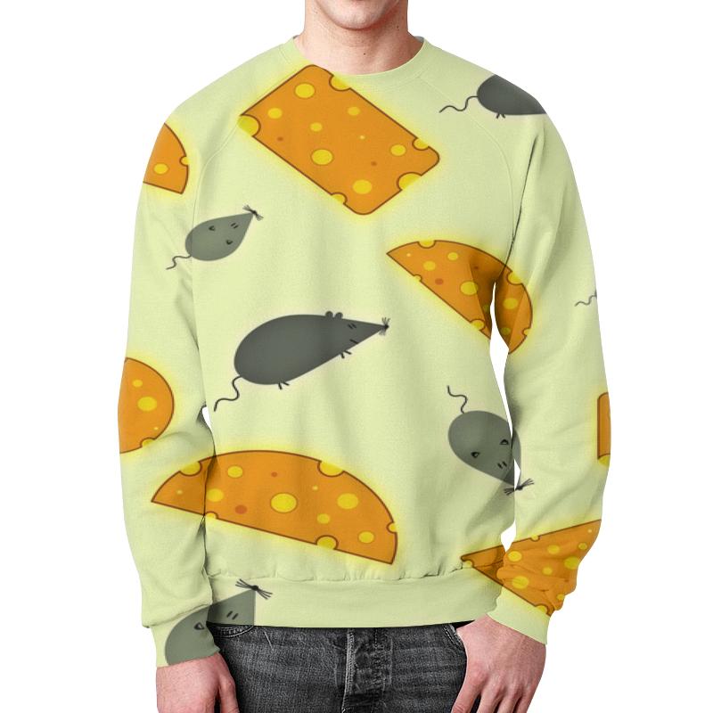 Свитшот мужской с полной запечаткой Printio Мышь и сыр футболка с полной запечаткой для девочек printio мышь и сыр