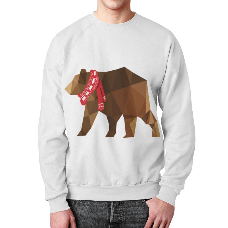 Свитшот мужской с полной запечаткой Printio Медведь свитшот print bar медведь тед