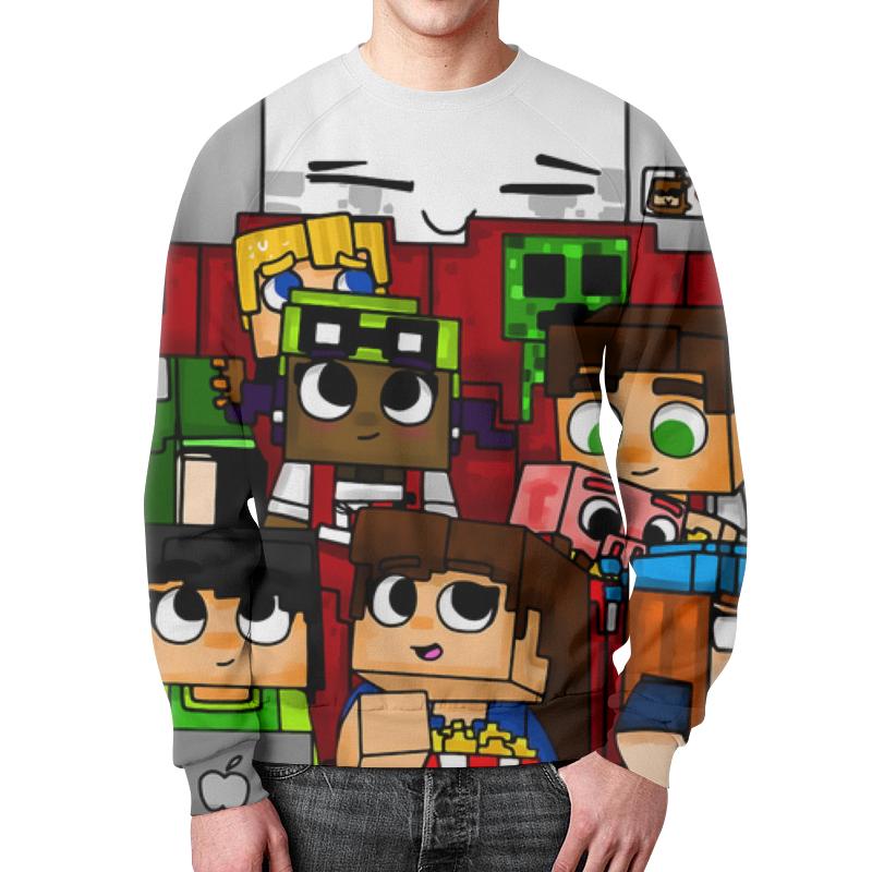 Свитшот мужской с полной запечаткой Printio Minecraft свитшот мужской с полной запечаткой printio воздушные шары