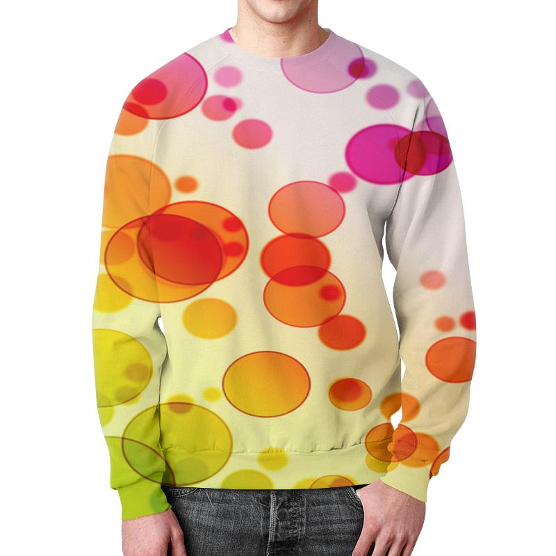 Свитшот мужской с полной запечаткой Printio Разноцветные круги цена