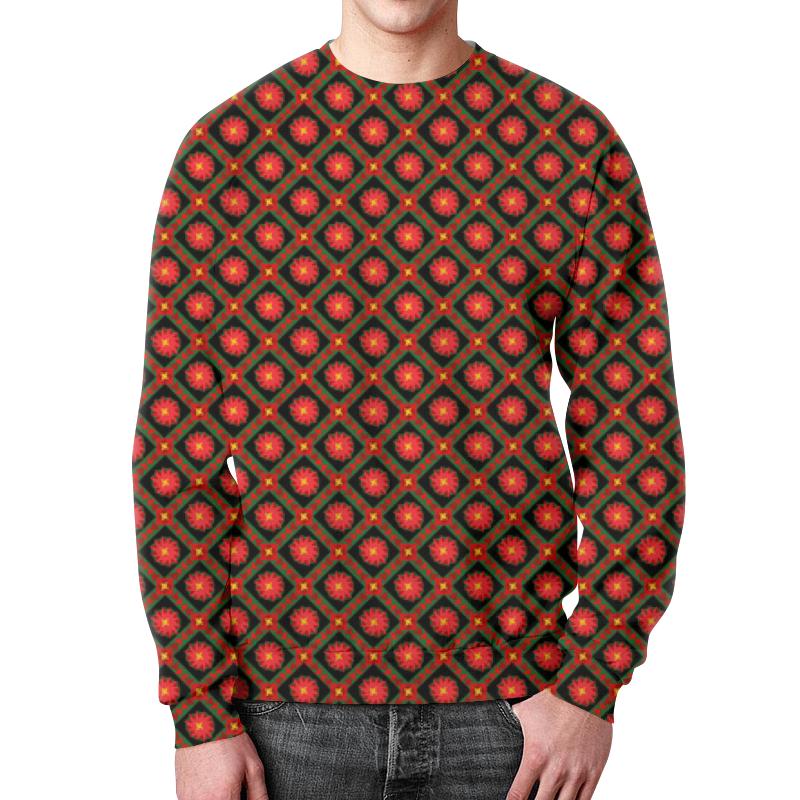 Свитшот мужской с полной запечаткой Printio Темный геометрический узор борцовка с полной запечаткой printio темный геометрический узор