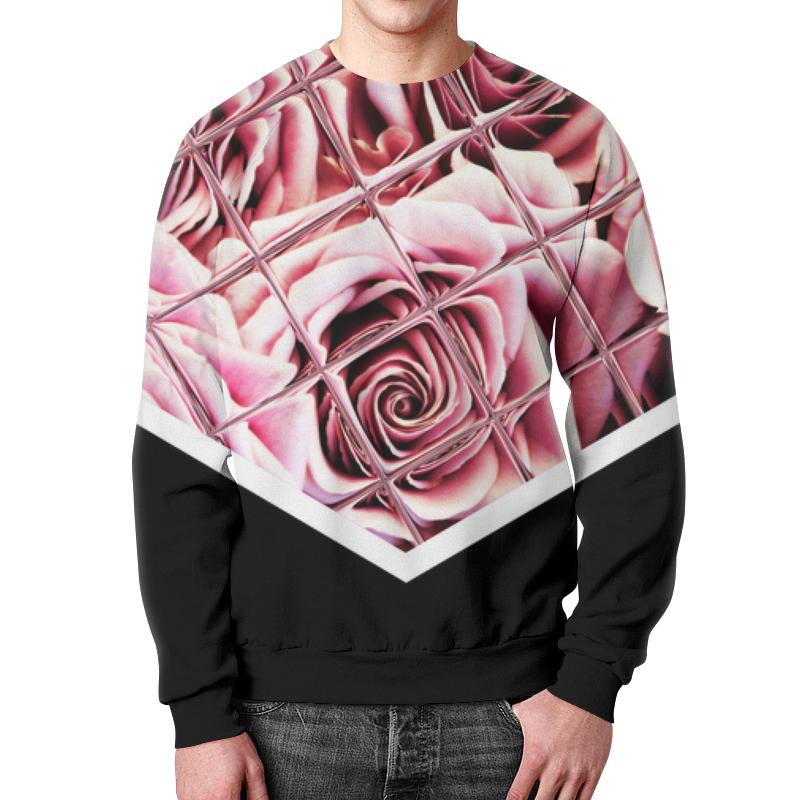 Свитшот мужской с полной запечаткой Printio Розы за стеклом свитшот мужской с полной запечаткой printio за гранью fringe