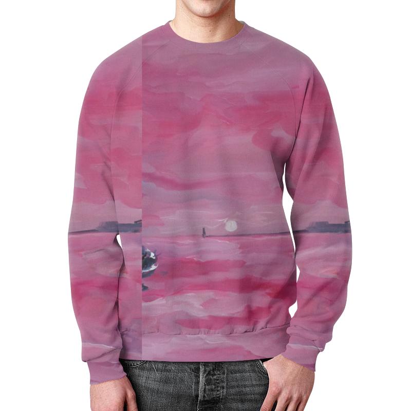 межнациональная пропасть и закат европы Свитшот унисекс с полной запечаткой Printio Розовый закат