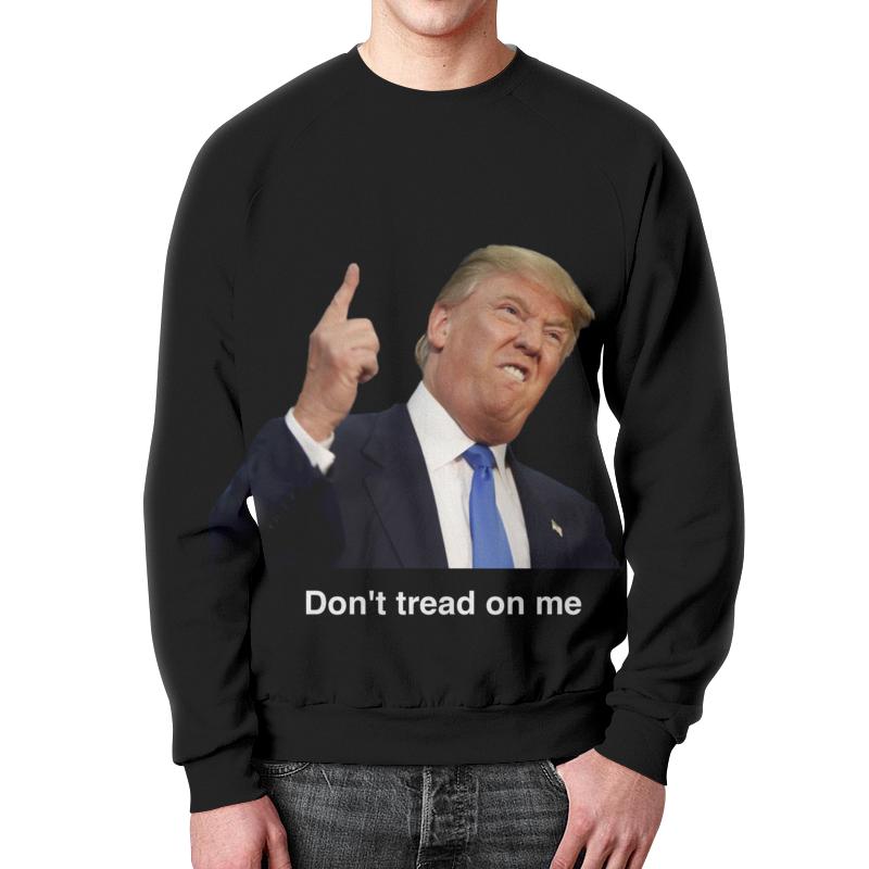 Свитшот унисекс с полной запечаткой Printio Don't tread on me трамп