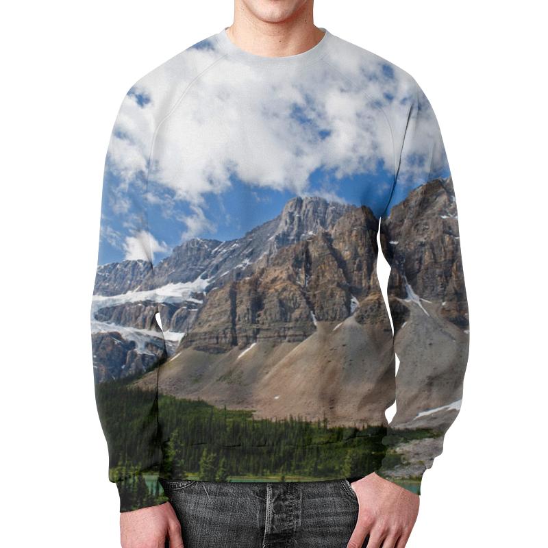 Свитшот мужской с полной запечаткой Printio Лес и горы