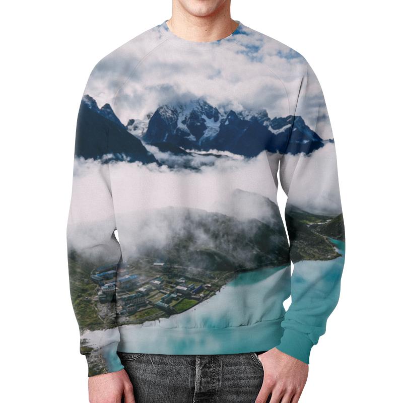 Свитшот унисекс с полной запечаткой Printio Туман в горах цветной тм туман в горах