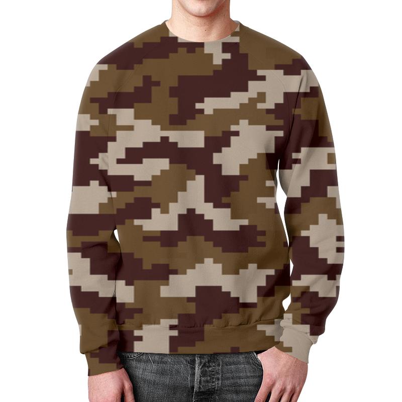 Свитшот мужской с полной запечаткой Printio Camouflage brown футболка с полной запечаткой для мальчиков printio camouflage brown