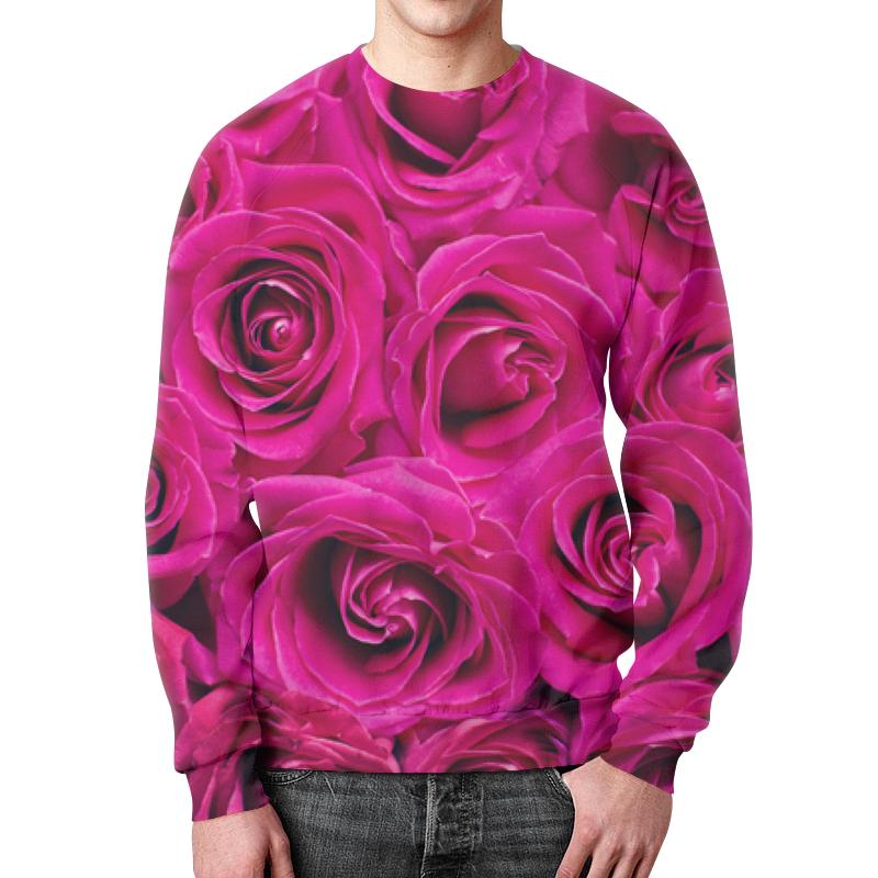 Свитшот мужской с полной запечаткой Printio Pink roses детский свитшот унисекс printio pink roses
