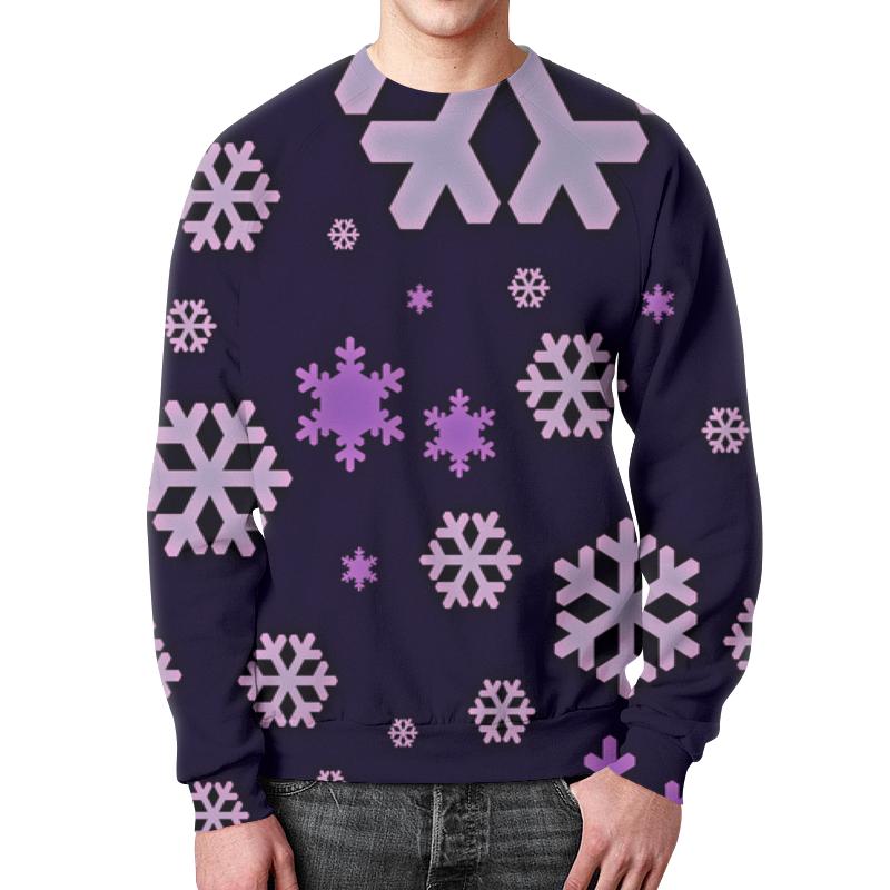 Свитшот унисекс с полной запечаткой Printio Снежинки костюм маленькой снежинки 32