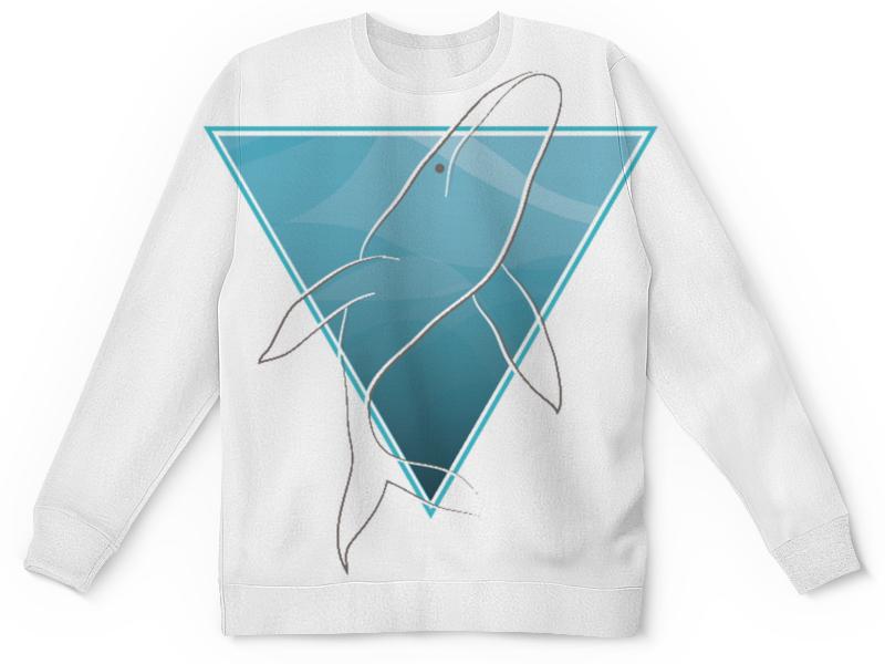 Свитшот унисекс с полной запечаткой Printio Кит в морском треугольнике свитшот print bar синий кит