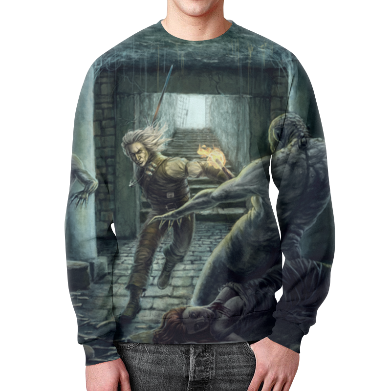 Свитшот мужской с полной запечаткой Printio Ведьмак цена и фото