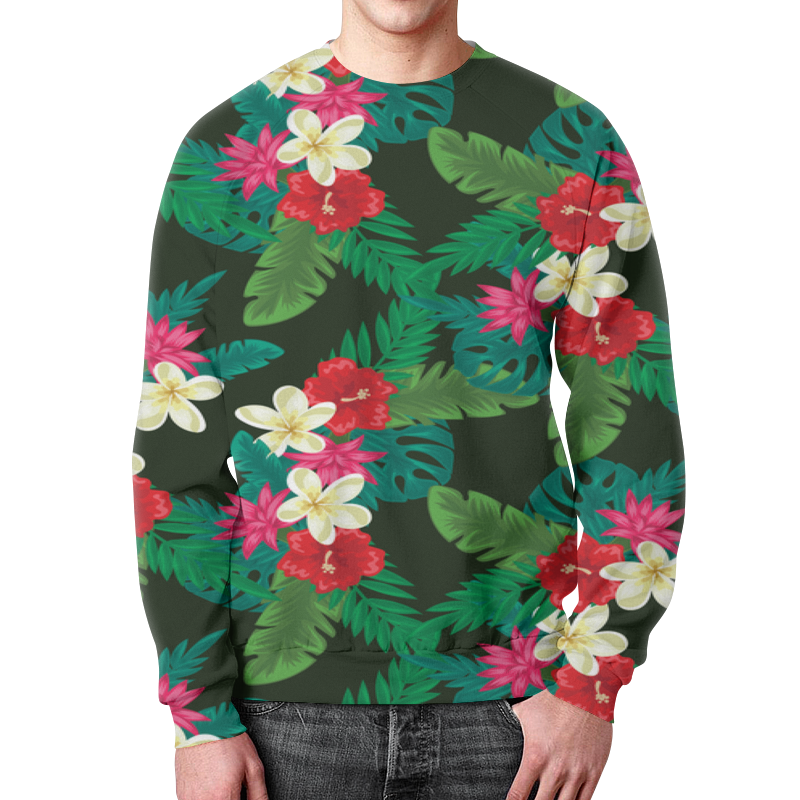 Свитшот мужской с полной запечаткой Printio Цветы свитшот мужской с полной запечаткой printio полевые цветы