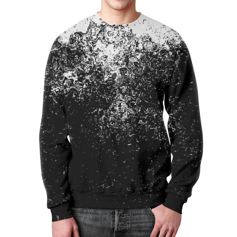 Свитшот унисекс с полной запечаткой Printio Черно-белые краски цена