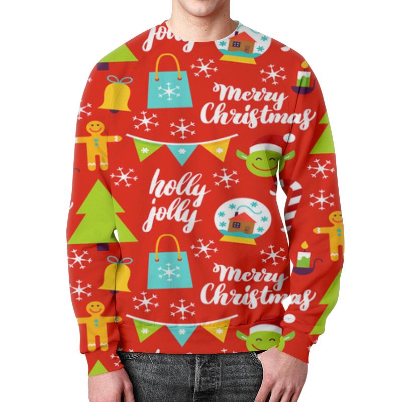 Свитшот мужской с полной запечаткой Printio Christmas свитшот мужской с полной запечаткой printio сats vs christmas trees