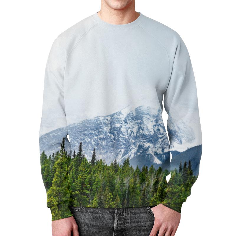 Свитшот унисекс с полной запечаткой Printio Снежные горы