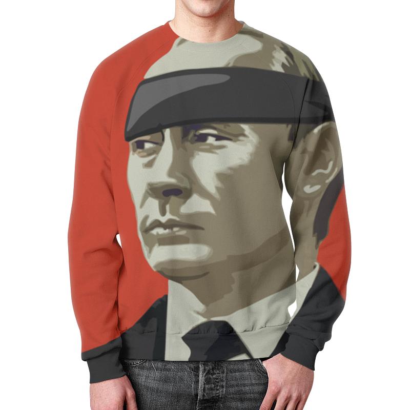 Свитшот мужской с полной запечаткой Printio Путин (россия)