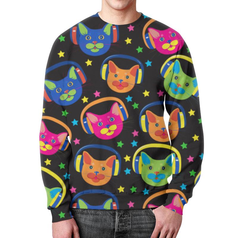 Фото - Свитшот унисекс с полной запечаткой Printio Коты меломаны свитшот print bar коты