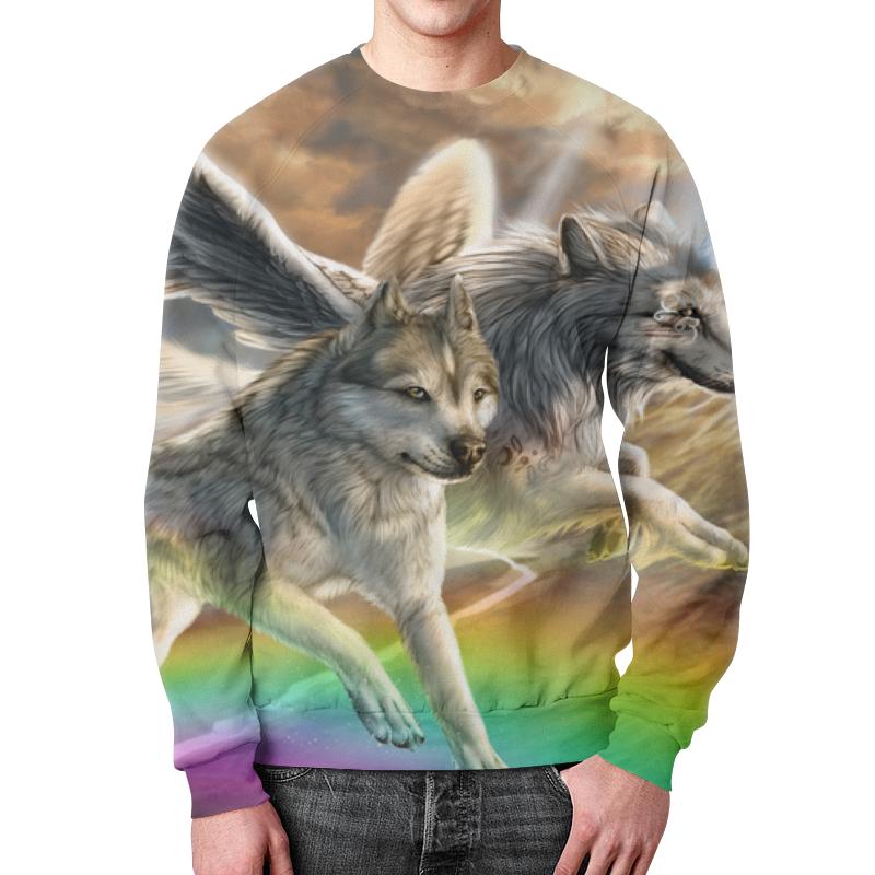 Свитшот мужской с полной запечаткой Printio Волки свитшот print bar серые волки