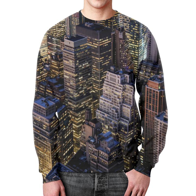 Свитшот мужской с полной запечаткой Printio Здания города