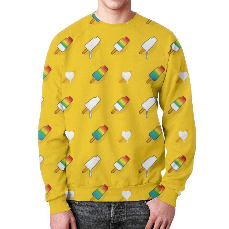 Свитшот мужской с полной запечаткой Printio Поп арт дизайн. мороженое паттерн mateo набор бокалов для воды enigma