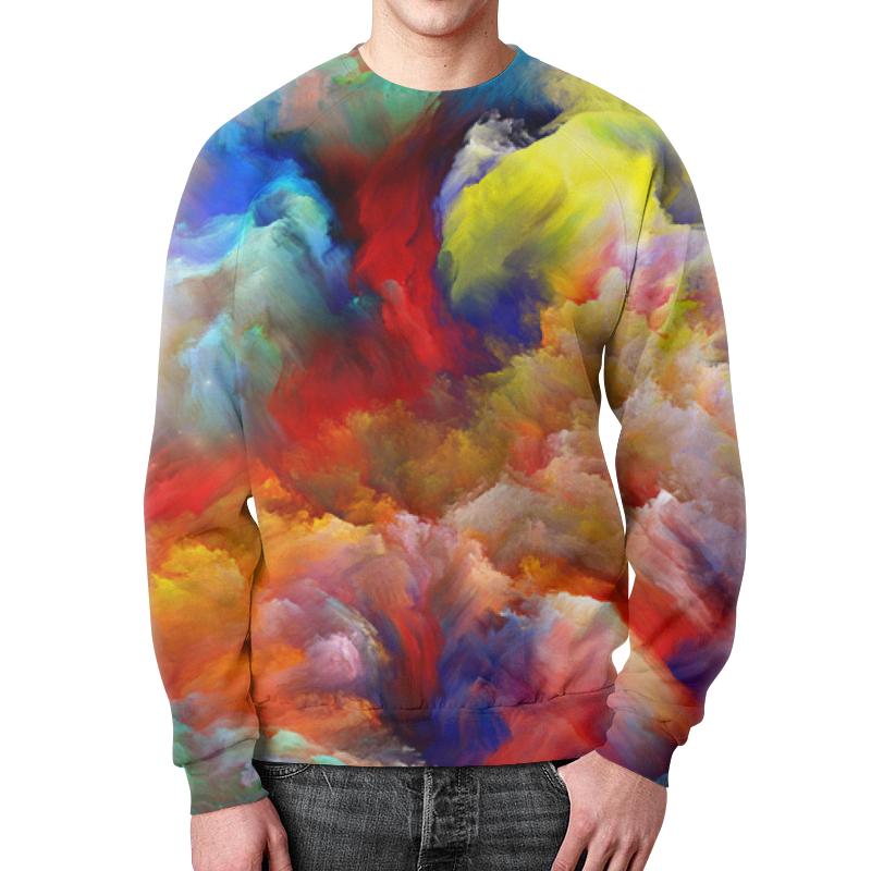 Свитшот мужской с полной запечаткой Printio Краски свитшот унисекс с полной запечаткой printio краски осени