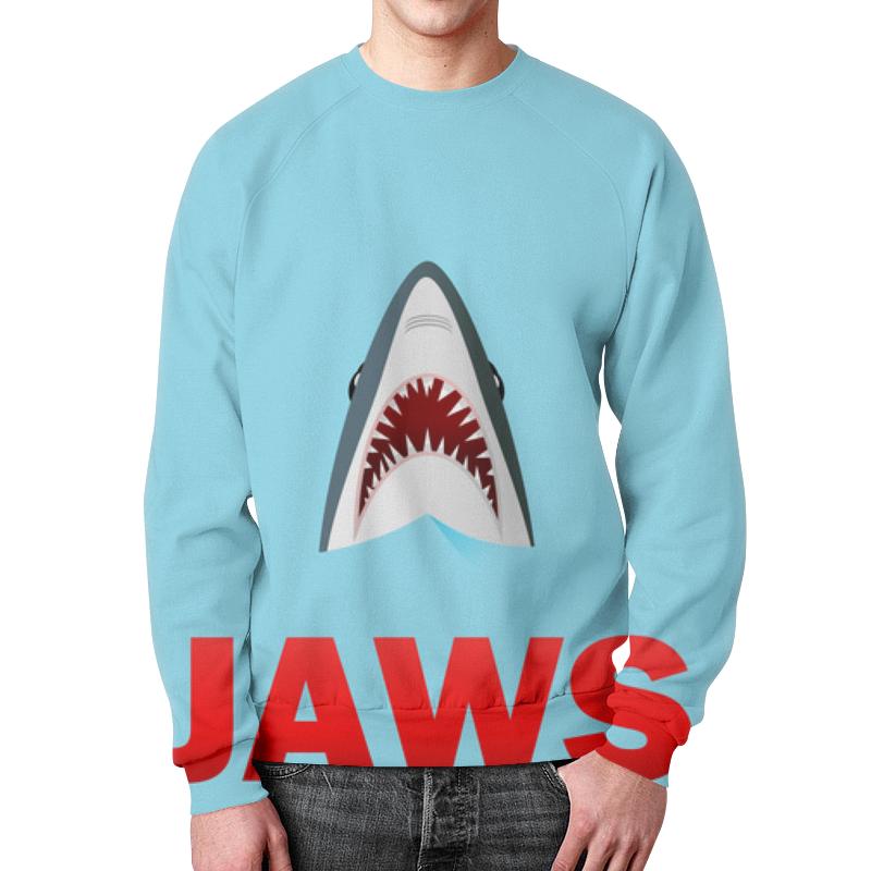 Свитшот унисекс с полной запечаткой Printio Акула серова м клад белой акулы