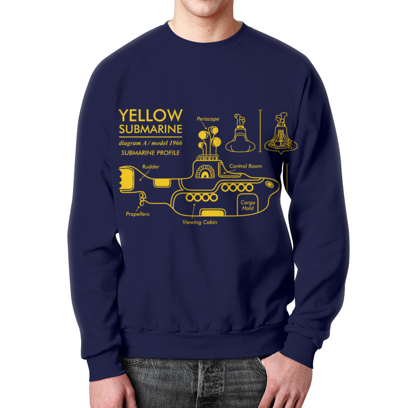 Свитшот мужской с полной запечаткой Printio Yellow submarine магнит the beatles yellow submarine