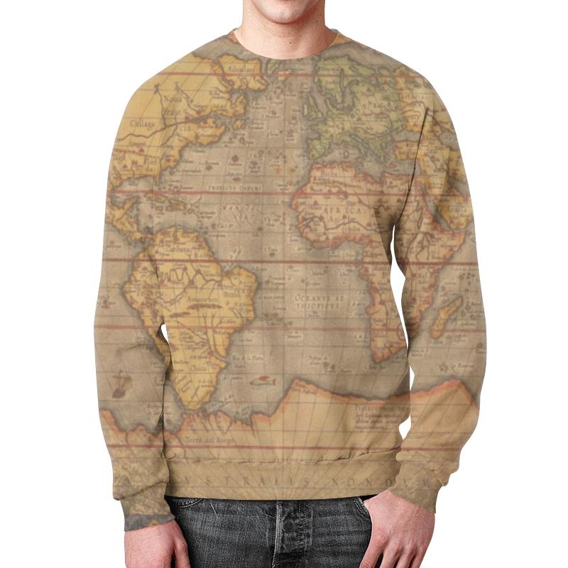 Свитшот унисекс с полной запечаткой Printio Старая карта старая карта села работки