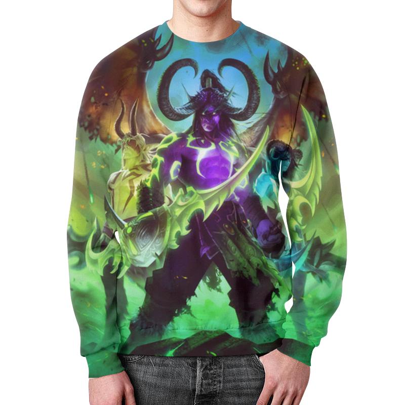 Фото - Свитшот мужской с полной запечаткой Printio Warcraft: illidan подушка 60х40 с полной запечаткой printio warcraft illidan
