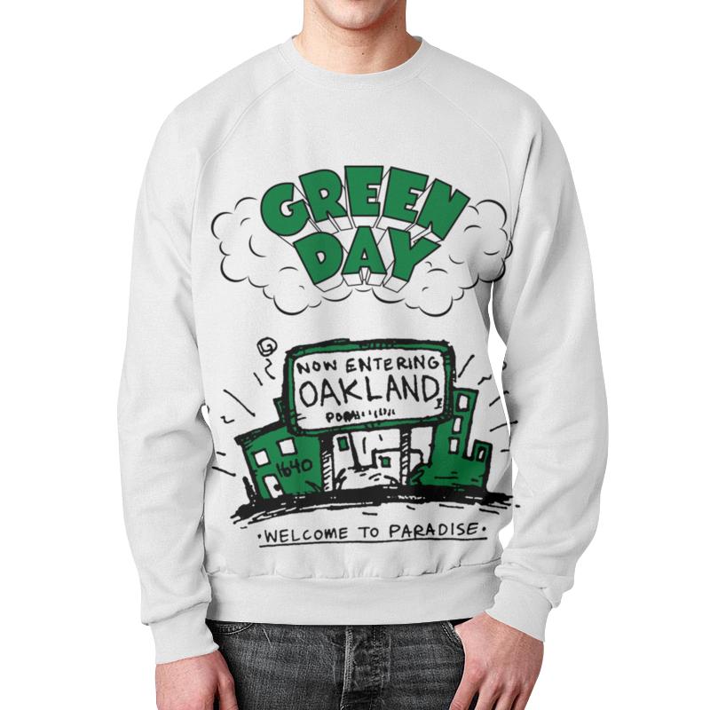 Свитшот мужской с полной запечаткой Printio Green day свитшот print bar next day