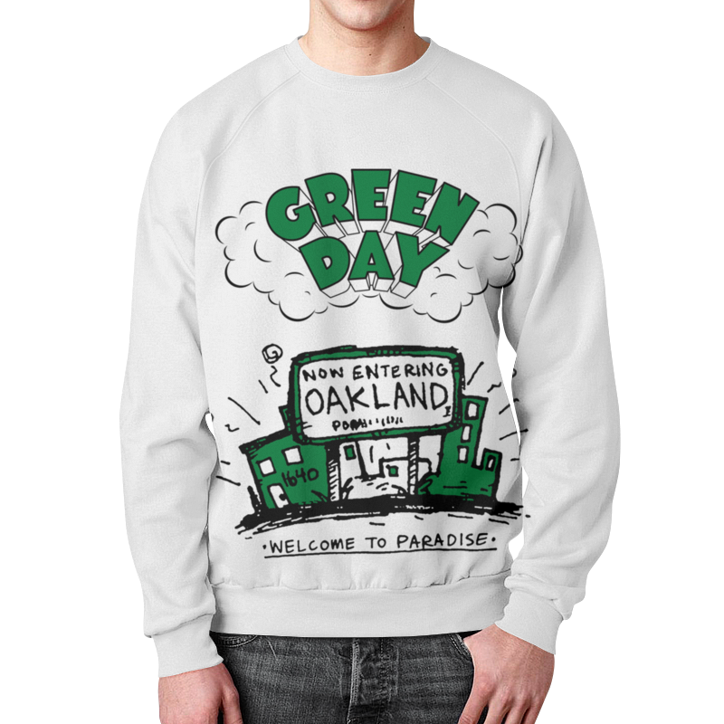 Свитшот унисекс с полной запечаткой Printio Green day свитшот унисекс с полной запечаткой printio lazy day
