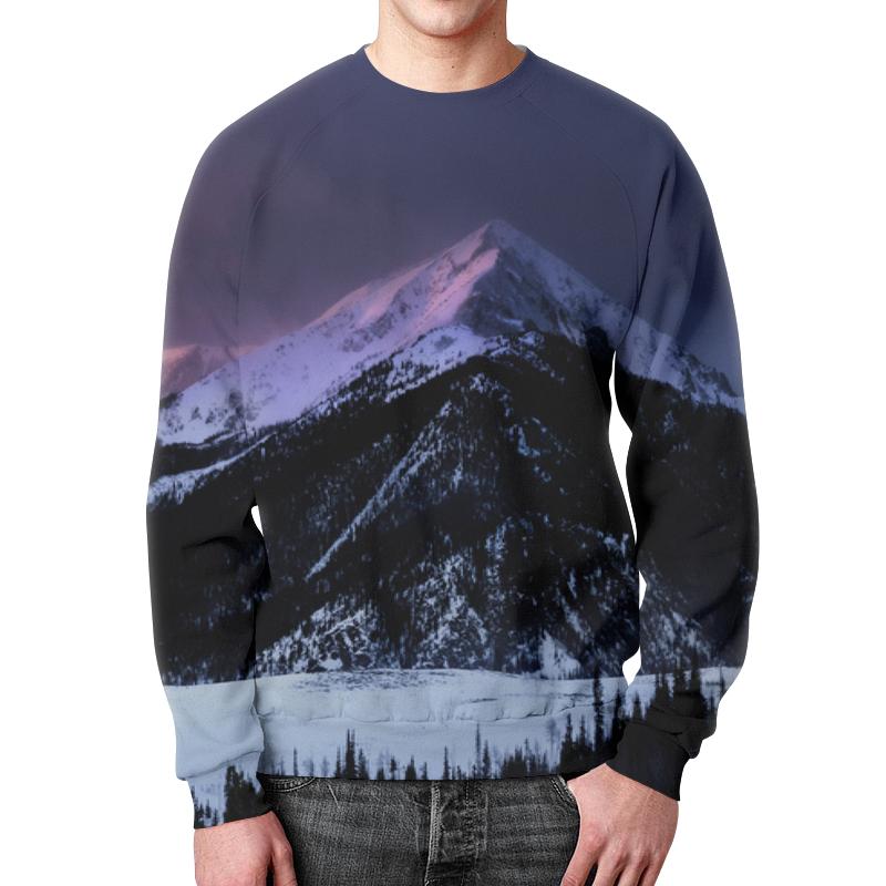 Свитшот мужской с полной запечаткой Printio Снежная гора подушка 40х40 с полной запечаткой printio снежная гора
