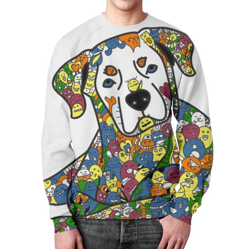 Свитшот мужской с полной запечаткой Printio Собака из дудл монстров рубашка поло с полной запечаткой printio собака из дудл монстров