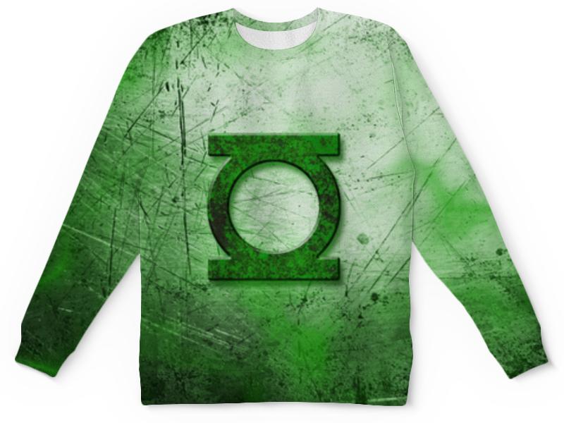 Свитшот унисекс с полной запечаткой Printio Зелёный фонарь (green lantern) green lantern by geoff johns omnibus volume 3