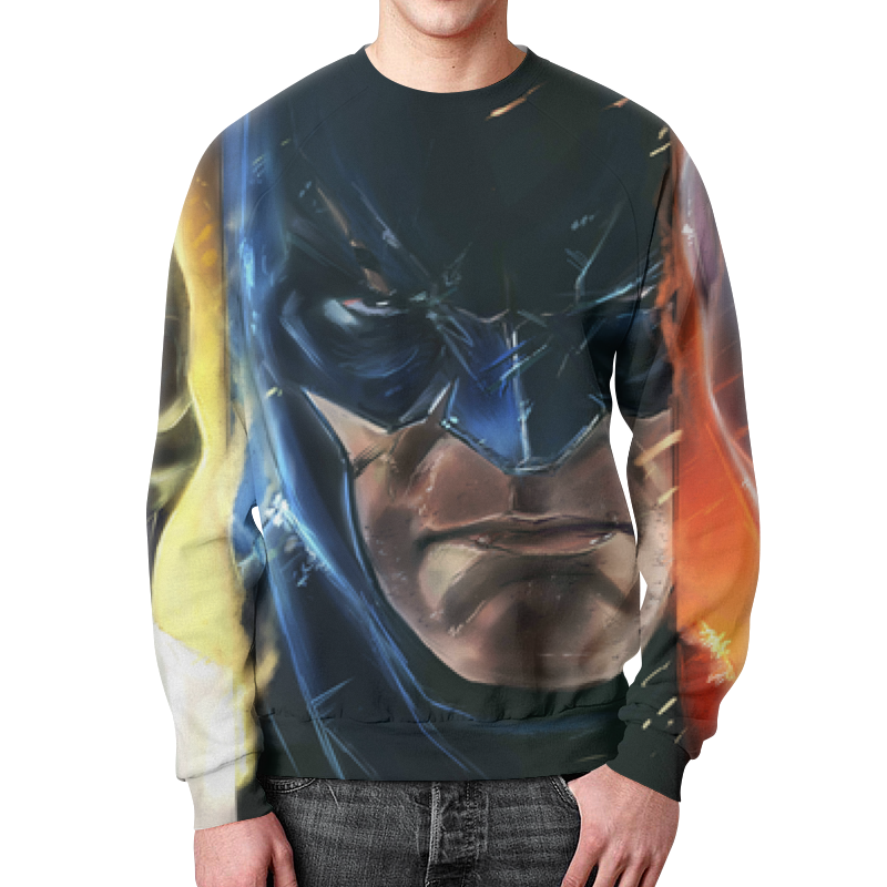 Свитшот мужской с полной запечаткой Printio Batman свитшот мужской с полной запечаткой printio камуфляж