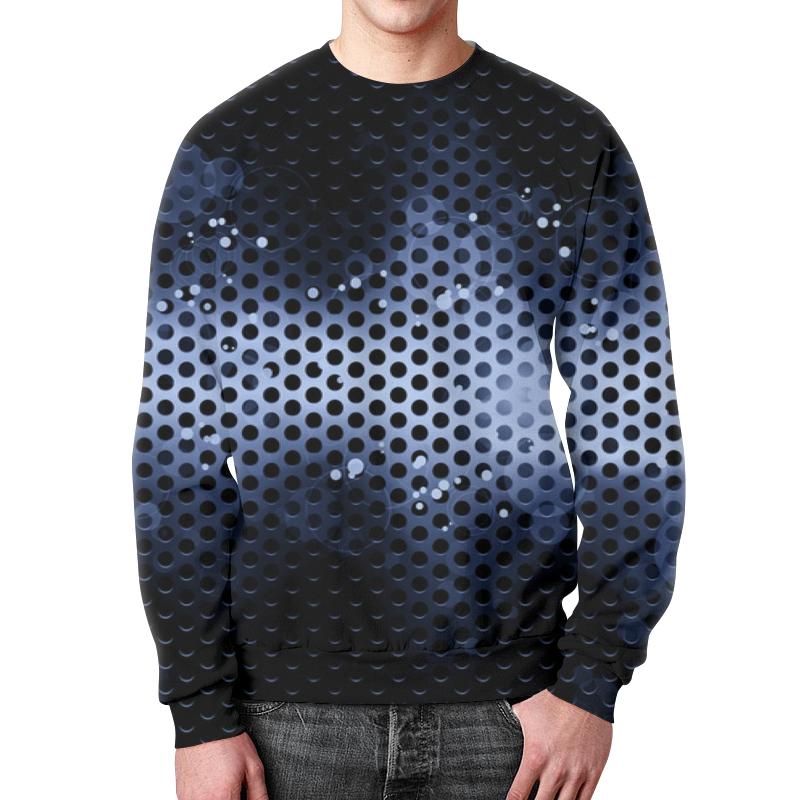 Свитшот мужской с полной запечаткой Printio Черно-синие краски цена