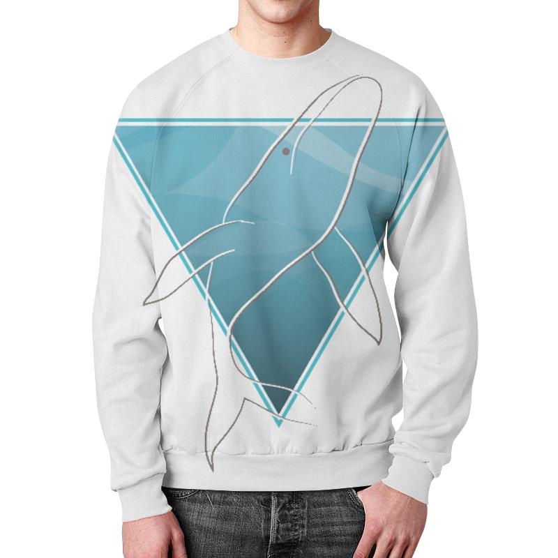 Свитшот мужской с полной запечаткой Printio Кит в морском треугольнике свитшот print bar синий кит