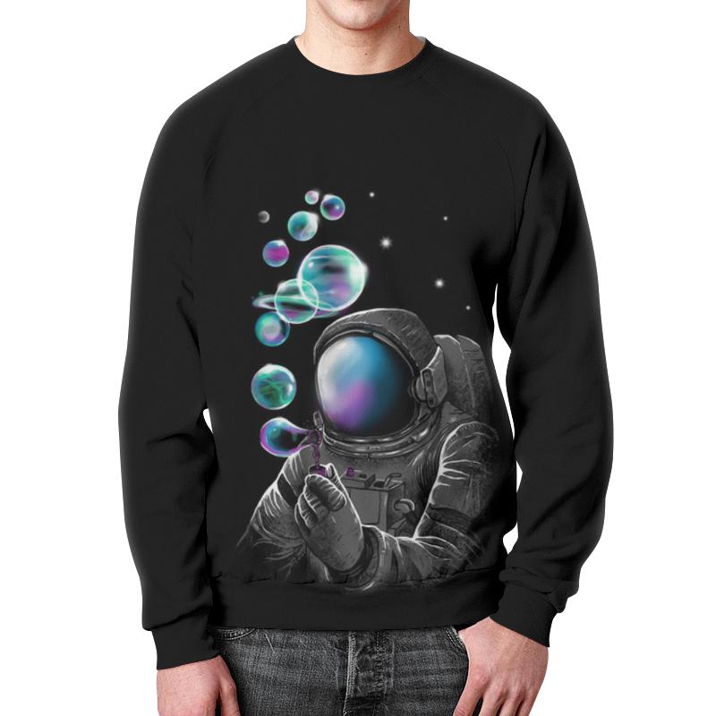 Свитшот мужской с полной запечаткой Printio Космонавт свитшот унисекс с полной запечаткой printio панда космонавт